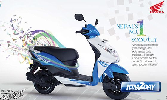 Honda Dio Launched In New Color Shades In Nepal