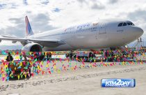 Nepal Airlines A330-200 lands at KTM airport