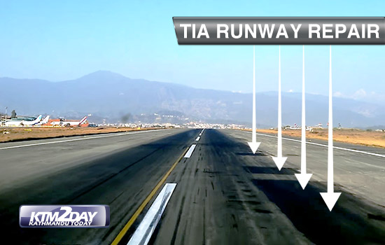 TIA runway to be closed 10 hours daily for repairs