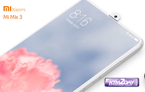 Xiaomi Mi MIX 3 to come with retractable camera