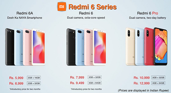 Redmi-6-Series-Price
