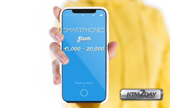 Smartphones from Rs15000-Rs20000 Nepal