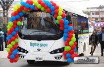 Electric buses rolls out in Kathmandu