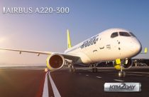 Airbus A220-300 lands in KTM as part of a world demonstration tour