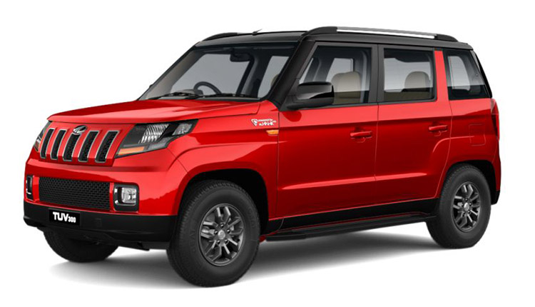 Mahindra-TUV300-red