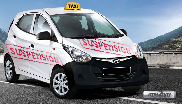 Taxi-suspension