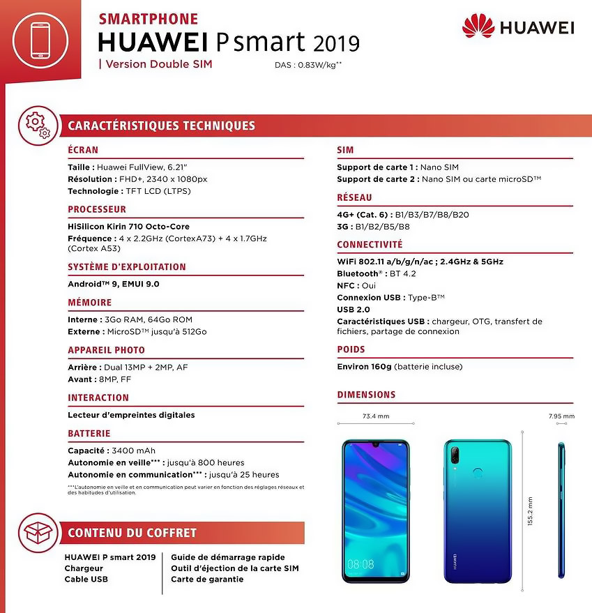 Huawei P Smart 2019 set to launch with Kirin 710 and Android 9