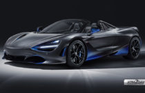McLaren 720S Spider shows aerodynamic flow in blue color