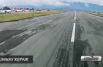 Runway rehabilitation of Kathmandu Airport begins
