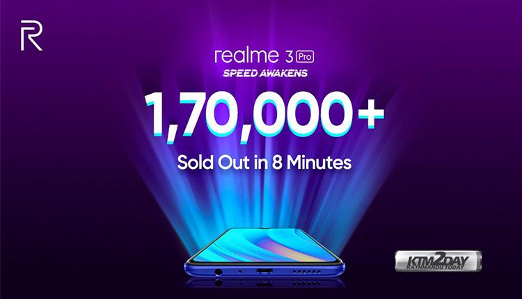 Realme 3 Pro sales record