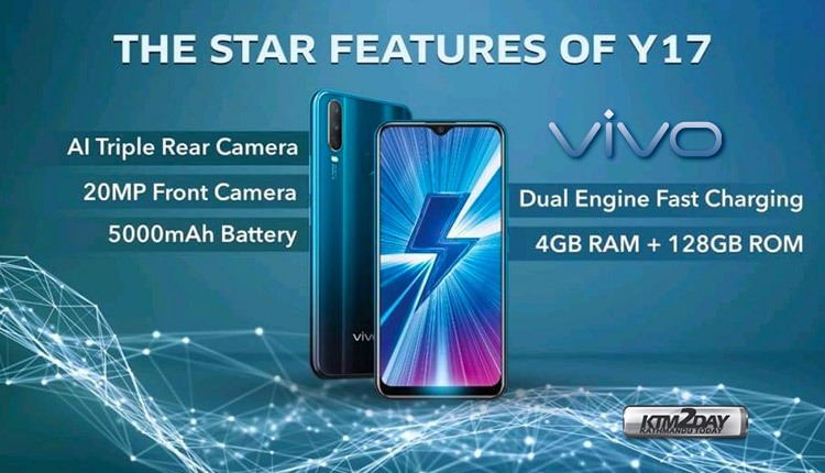 Vivo Y17 Launched in Nepal : AI Triple camera and 5000 mAh battery
