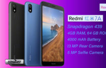 Redmi 7A budget smartphone with SD 439 and 4,000mAh Battery launched