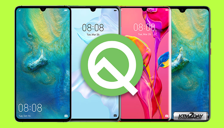 Huawei Android Q update models