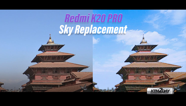 Redmi K20 Pro Sky Replacement feature