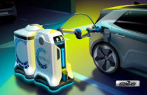 VW unveils charging robot concept for electric cars