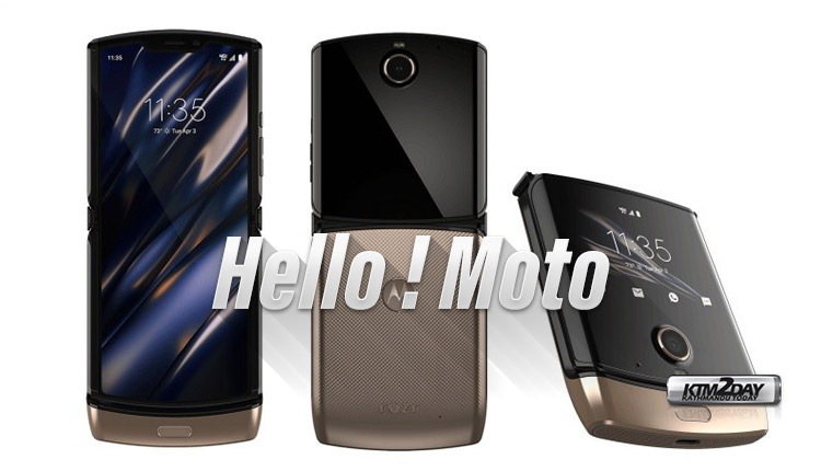 Moto Razr 2019 Golden Color Variant