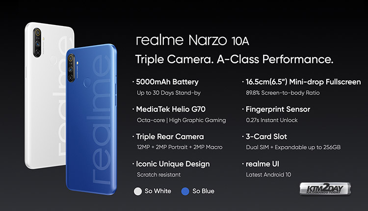 Narzo 10A Specification