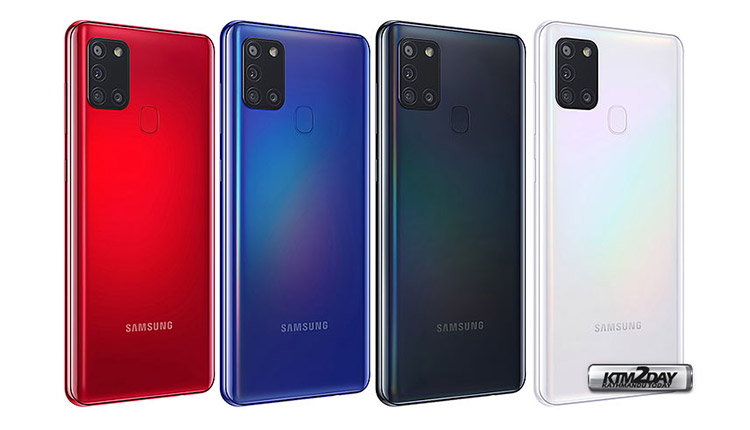 Samsung Galaxy A21s Back Panel Colors