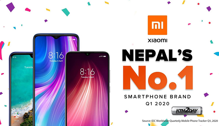 Xiaomi Number 1 brand in Nepal