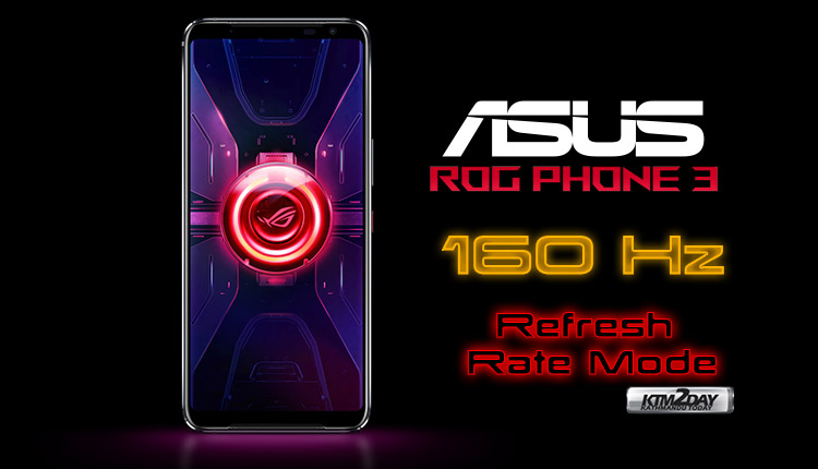 Asus ROG Phone 3 160 Hz refresh rate mode