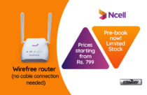 "Ncell starts pre-booking of ""Wirefree Plus"" WiFi bundled service"