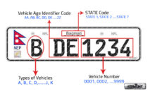 Embossed number plates are mandatory on all vehicles registered and renewed from July 16