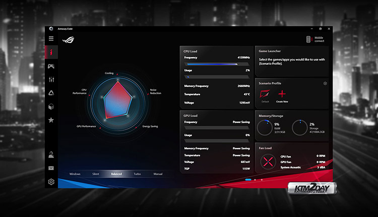 ROG Armoury Crate software